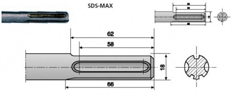 Broca Sds Max Morumbi - Broca de Aço Rápido Longa